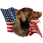 Chocolate Lab Flag