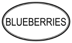 BLUEBERRIES (oval)