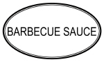 BARBECUE SAUCE (oval)