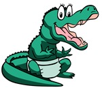 Green Baby Gator