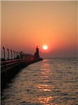 Grand Haven Channel at Sunset
