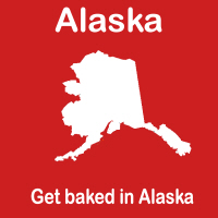 Get Baked in Alaska state shirts