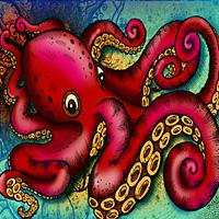 Octopus Artwork by Julie Oakes