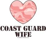 Coast Guard Wife Pink Camo Heart
