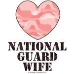 National Guard Wife Pink Camo Heart