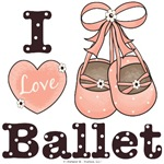 Pink Brown Ballet Gift Dancer T-shirt