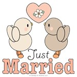 Just Married Newlywed Bride Groom T-shirts Gifts