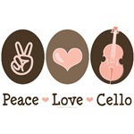 Peace Love Cello Cellist T-shirt Gifts