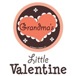 Grandma's Little Valentine Baby Kid T shirt Gifts