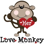 Her Love Monkey Funny Valentine T-shirt Gifts