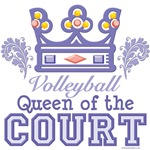 Queen Of The Court Volleyball T shirt Gifts