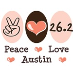 Peace Love 26.2 Austin T shirt Marathon Gifts