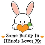 Some Bunny In Illinois Loves Me T-shirt Gifts