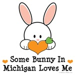 Some Bunny In Michigan Loves Me T-shirt Gifts