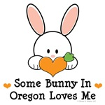 Some Bunny In Oregon Loves Me T shirt Gifts