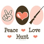 Peace Love Hunt T-shirt Tees Gifts