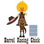 Barrel Racing Chick T-shirts Tees and Gifts