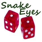 Gambling Snake Eyes on Rolled Dice