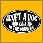 Adopt a Dog Black Oval