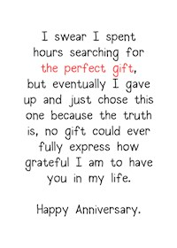 The Perfect Anniversary Gift