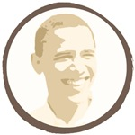 OBAMA Antique Face and O