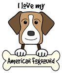 Tri-Color American Foxhound Cartoon