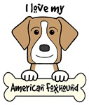 Tan American Foxhound Cartoon