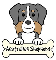 Australian Shepherd Cartoon T-Shirts and Gifts