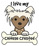 Brown Chinese Crested Cartoon