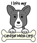 Black Cardigan Welsh Corgi Cartoon