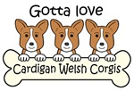 Three Red Cardigan Welsh Corgis
