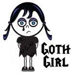 Cute Vector Illustration Goth Emo Girl
