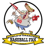 WORLDS GREATEST BASEBALL FAN MEN CARTOON