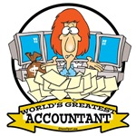 WORLDS GREATEST ACCOUNTANT MEN CARTOON