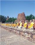 Row Of Budhas Meditating