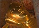 Head of Golden Budha Reclining