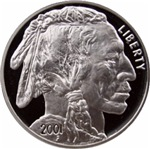 Indian Head Silver on White