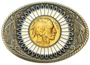 Indian gold oval 3