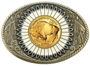 Buffalo gold oval 3