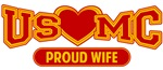 T-shirts, hats, mugs, stickers and gift items for USMC Wife