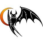 Vampire Bat & Moon