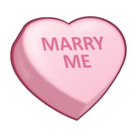 MARRY ME - Candy Heart