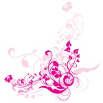 Pink Flower Swirls