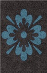 Blue Flower on Brown Berber