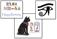 See more Egyptian Hieroglyphics
