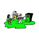 green cartoon band