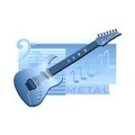 guitar blue graphic