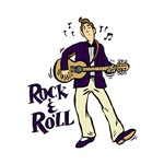 rock n roll guy playing guitar purp