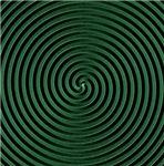 Green 3D Spiral Designs