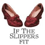 If the Slippers fit is a fitting title for this pair of ruby red slippers from the Wizard of Oz.  If you are an Oz fan, let everyone know by wearing one of these great t-shirts of wizard of oz gift items.